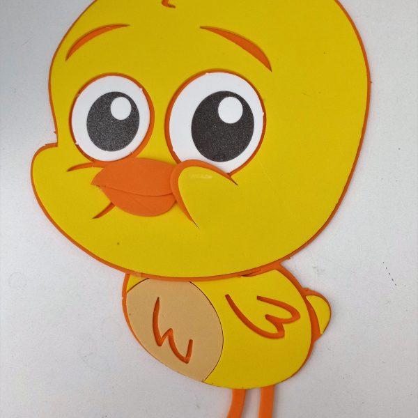 Mini painel para festa do Pintinho Amarelinho - Personagem Bob Zoom