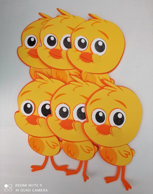 Mini painel para festa do Pintinho Amarelinho (6 unidades)- Personagem Bob Zoom