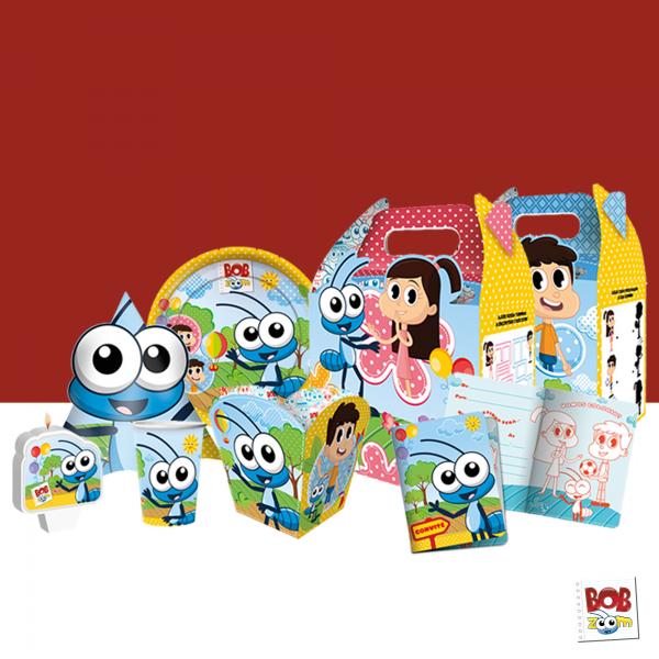 Kit Festa Infantil do Bob Zoom para 8 crianças - Kit Festa de Aniversário.